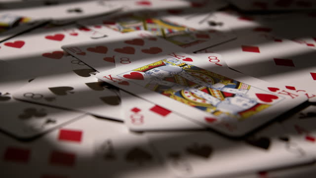 king of hearts playing card dropping. - luck stock videos & royalty-free footage