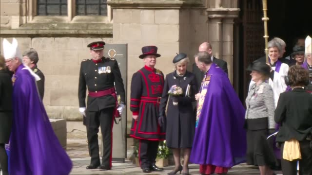 Service of Internment at Leicester Cathedral Departures ENGLAND Leicestershire Leicester Cathedral EXT Sophie Countess of Wessex departing cathedral...