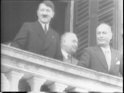 king victor emmanuel iii and marshal pietro badoglio take charge of italian people and army as dictator benito mussolini 'resigns' with allied troops... - adolf hitler stock videos & royalty-free footage