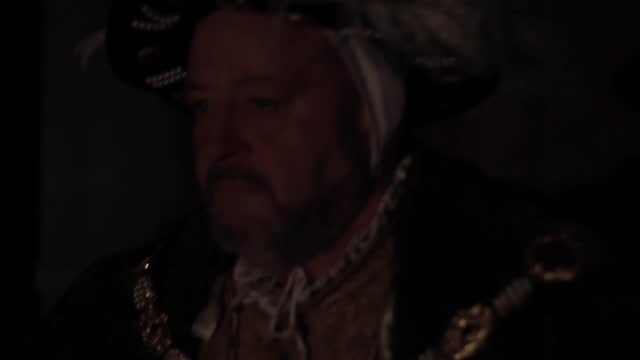 king walking down a corridor - tudor era reenactment - british royalty stock videos & royalty-free footage