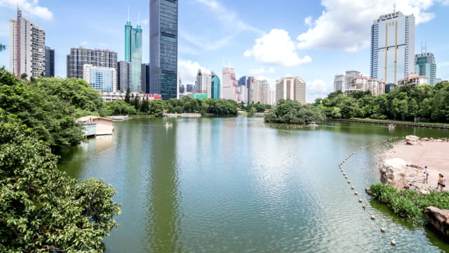 t/l ws la tu kingkey 100 skyline cbd/ shenzhen, china - t in the park stock videos & royalty-free footage
