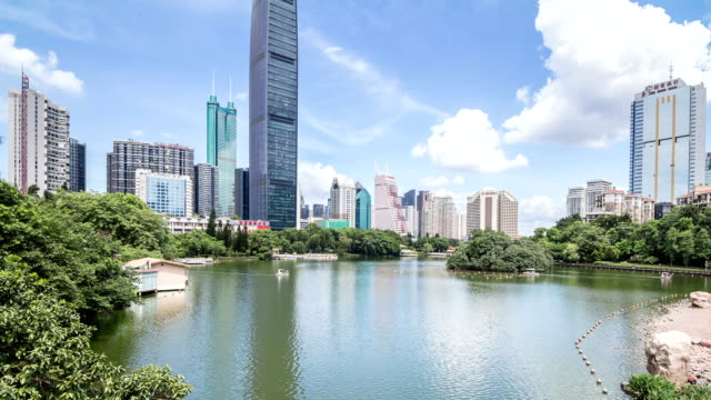 t/l ws la zi kingkey 100 skyline cbd/ shenzhen, china - t in the park stock videos & royalty-free footage