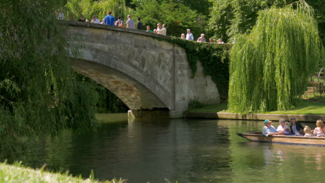 kings bridge, cambridge,punt - canal stock videos & royalty-free footage
