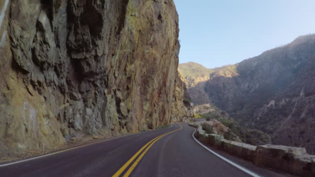 kings canyon national park, california: pov car driving - motorbike stock videos & royalty-free footage