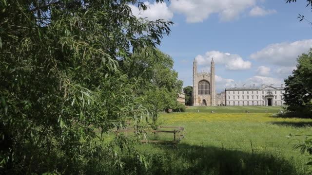 vídeos de stock, filmes e b-roll de king's college, cambridge, cambridgeshire, england, uk, europe - king's college cambridge