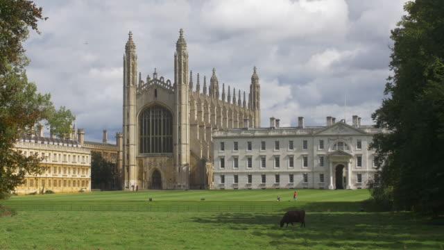 vídeos de stock, filmes e b-roll de king's college cambridge - king's college cambridge