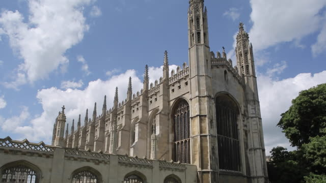 vídeos de stock, filmes e b-roll de king's college chapel, cambridge, cambridgeshire, england, uk, europe - king's college cambridge