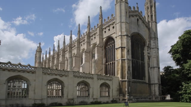 king's college chapel, cambridge, cambridgeshire, england, uk, europe - king's college cambridge stock videos and b-roll footage