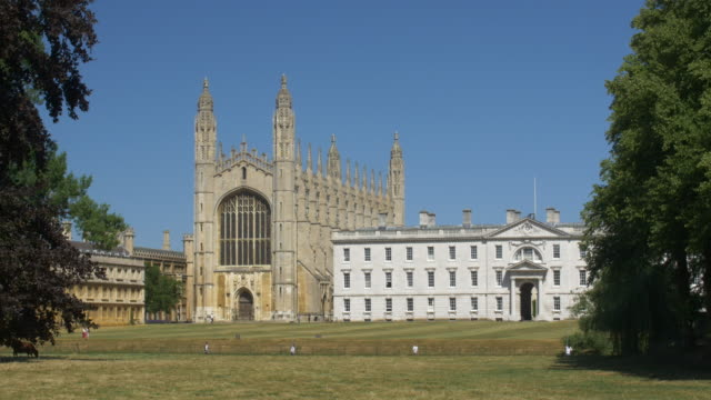 kings college chapel seen across the cam river - cambridge england stock videos and b-roll footage