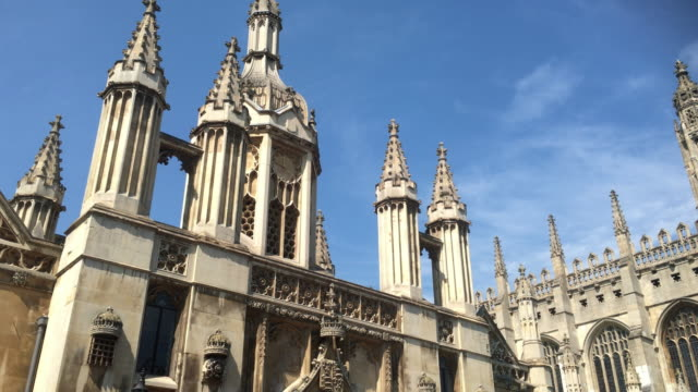 king's college gate and tower. - cambridge england stock videos and b-roll footage