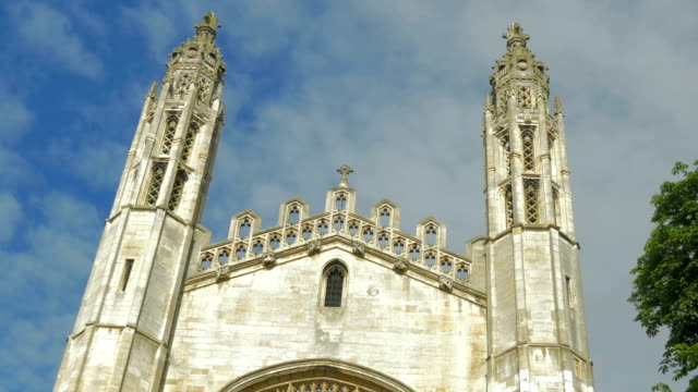 vídeos de stock, filmes e b-roll de kings college,cambridge,ws,td - king's college cambridge