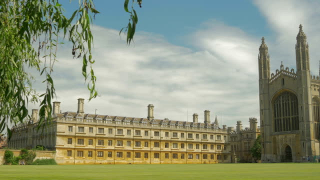 vídeos de stock, filmes e b-roll de kings college,river cam,cambridge,ws, - king's college cambridge
