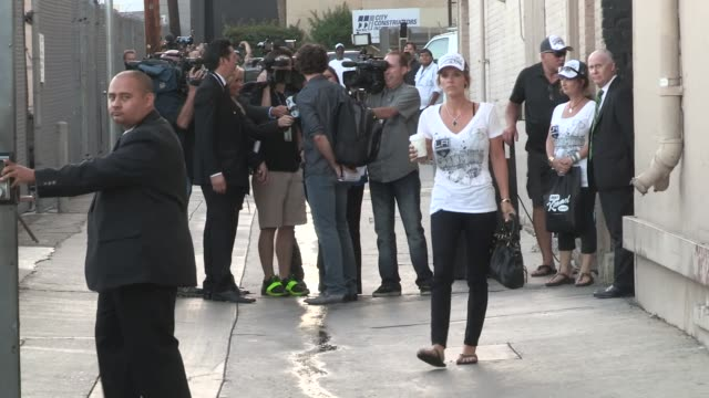 LA Kings Justin Williams Alec Martinez depart the Jimmy Kimmel Studio in Hollywood at Celebrity Sightings in Los Angeles on June 16 2014 in Los...