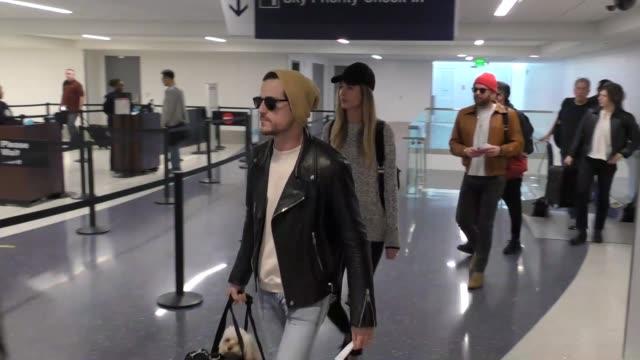 Kings Of Leon departing at LAX Airport in Los Angeles in Celebrity Sightings in Los Angeles