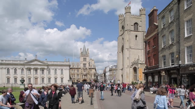king´s parade, cambridge, cambridgeshire, england, uk, europe - cambridge england stock videos and b-roll footage