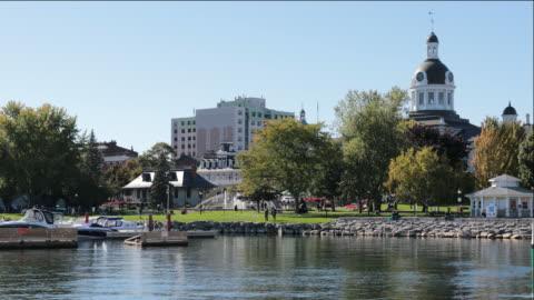 kingston city hall, ontario, canada - ontario canada stock videos & royalty-free footage