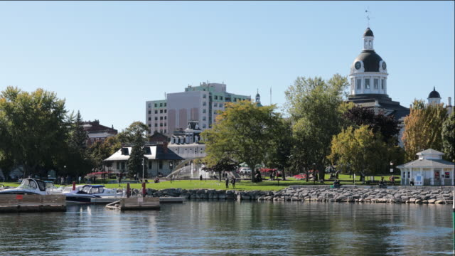 kingston city hall, ontario, canada - ontario canada stock videos & royalty-free footage