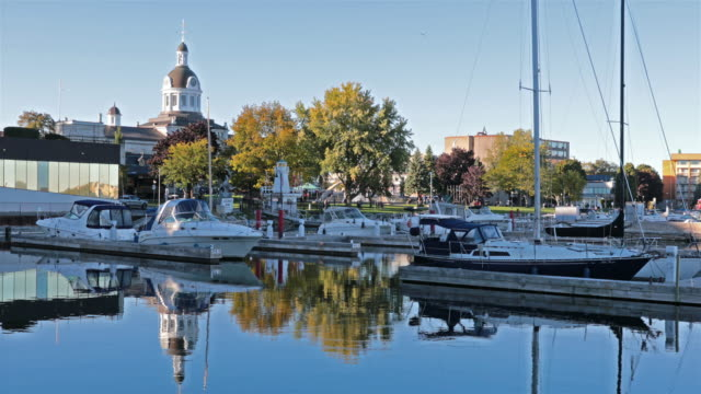 stockvideo's en b-roll-footage met stadhuis van kingston, ontario, canada - ontario canada