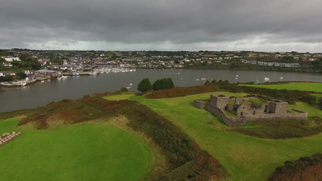 kinsale, ruins of james fort  ireland - county cork stock videos & royalty-free footage