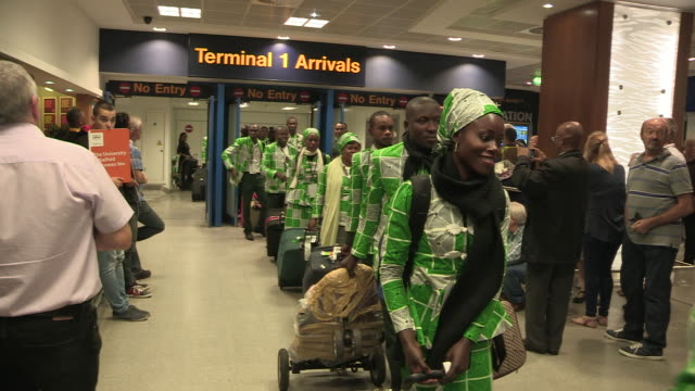 kinshasa symphony orchestra arriving in london for first ever british concert - bbc symphony orchestra stock videos & royalty-free footage