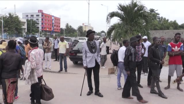 Kinshasa's dapper dressers or sapeurs pay tribute to Stervos Niarchos the founder of the Society for the Advancement of Elegant People a high fashion...