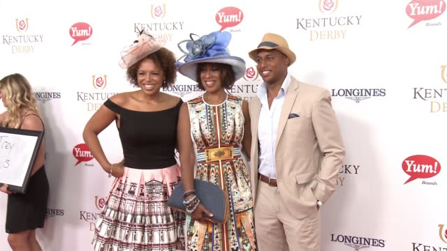 kirby bumpus gayle king and will bumpus at 142nd kentucky derby at churchill downs on may 07 2016 in louisville kentucky - gayle king stock videos & royalty-free footage