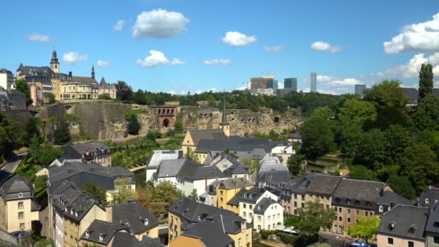kirchberg luxembourg, realtime - luxembourg benelux stock videos & royalty-free footage