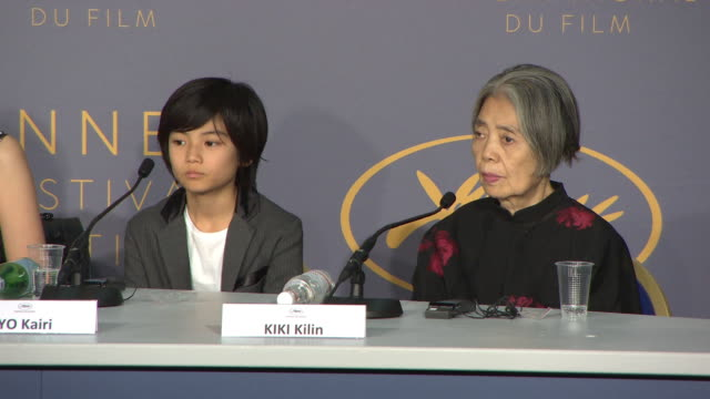 kirin kiki - - 'shoplifters' press conference - the 71st annual cannes film festival on may 14, 2018 in cannes, france. - kirin kiki stock videos & royalty-free footage