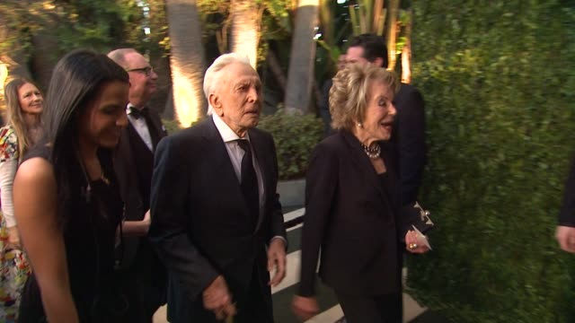 kirk douglas and wife at the 2013 vanity fair oscar party hosted by graydon carter kirk douglas and wife at the 2013 vanity fair osca at sunset tower... - wife stock videos & royalty-free footage