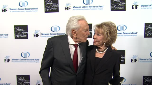 Kirk Douglas Anne Douglas at An Unforgettable Evening Benefiting The Entertainment Industry Foundation's Women's Cancer Research Fund on 4/18/12 in...