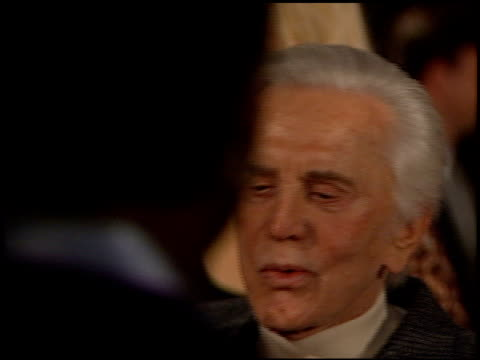kirk douglas at the premiere of 'the ghost and the darkness' at paramount studios in hollywood, california on october 3, 1996. - 1996 stock videos & royalty-free footage