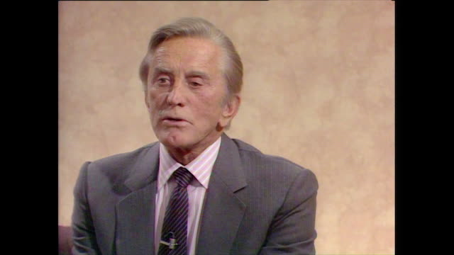 kirk douglas believes escaping into a world of makebelieve and imagination is the main motivation for actors wanting to pursue it as a career much... - 1987 stock videos & royalty-free footage
