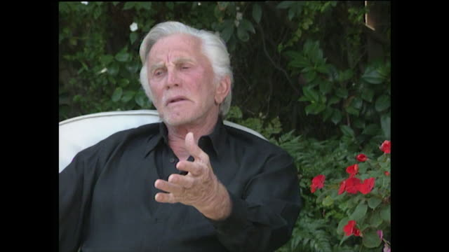 kirk douglas explains how he feels that women are stronger than men and has always felt the way throughout my life women have always been important... - women's issues stock videos & royalty-free footage
