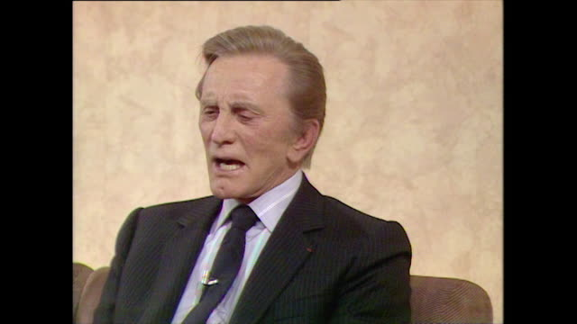 kirk douglas has considered renouncing judaism in the past and has found it difficult when a person says to him oh but you don't look jewish' - neckwear stock videos and b-roll footage