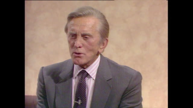 kirk douglas recalls how he bought the film rights to one flew over the cuckoo's nest after acting in the play on broadway which michael douglas went... - 1987 stock videos & royalty-free footage