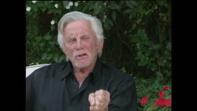 kirk douglas thinks michael douglas's acting in basic instinct is overlooked because of the sex scenes and sexual content and that he knows it's only... - distrust stock videos & royalty-free footage