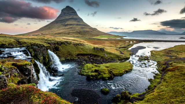 kirkjufell iceland - reykjavik stock videos and b-roll footage