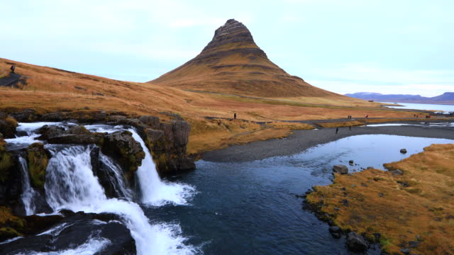 kirkjufell mountain - peninsula stock videos and b-roll footage