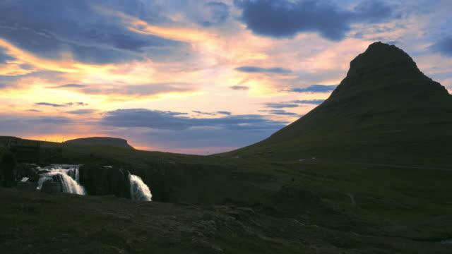 kirkjufellsfoss waterfalls - iceland stock videos & royalty-free footage