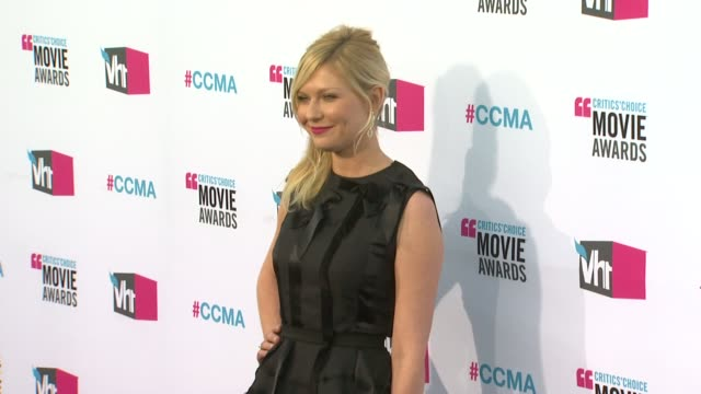 Kirsten Dunst at 17th Annual Critics' Choice Movie Awards on 1/12/12 in Hollywood CA
