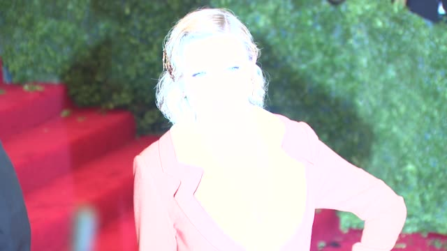 kirsten dunst at schiaparelli and prada impossible conversations costume institute gala at metropolitan museum of art on may 07 2012 in new york new... - hair accessory stock videos and b-roll footage