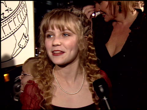 kirsten dunst at the 1995 golden globe awards at the beverly hilton in beverly hills, california on january 21, 1995. - 1995 stock videos & royalty-free footage