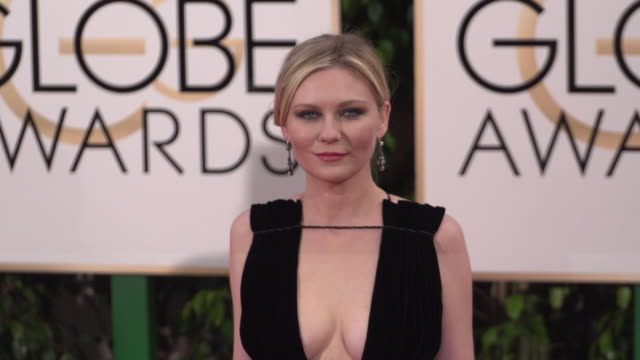 Kirsten Dunst at the 73rd Annual Golden Globe Awards Arrivals at The Beverly Hilton Hotel on January 10 2016 in Beverly Hills California 4K