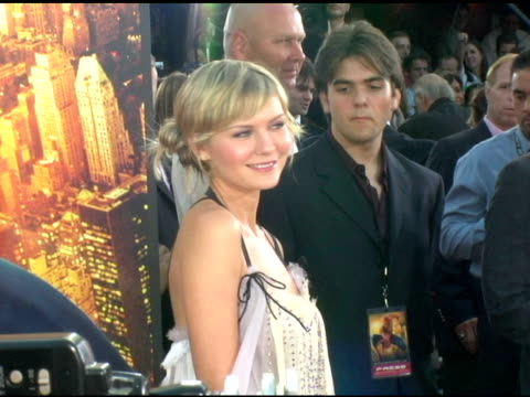 kirsten dunst at the 'spider-man 2' los angeles premiere arrivals at the mann village theatre in westwood, california on june 22, 2004. - house spider stock videos & royalty-free footage