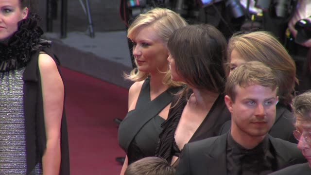 kirsten dunst, charlotte gainsbourg, charlotte rampling at the melancholia premiere: 64th cannes film festival at cannes . - charlotte rampling stock videos & royalty-free footage