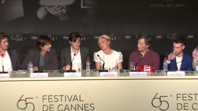 kirsten dunst kristen stewart on filming in montreal at on the road press conference 65th cannes film festival on may 23 2012 in france - kristen stewart stock videos and b-roll footage