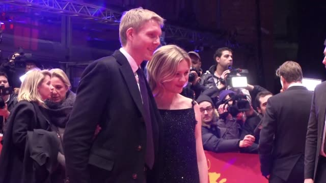 vídeos de stock e filmes b-roll de kirsten dunst unveiled midnight special a sci fi thriller by acclaimed us director jeff nichols at the berlin film festival friday which takes... - festival cinematográfico