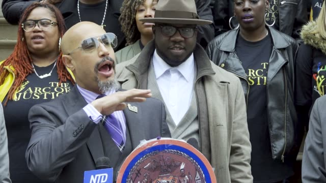 kirsten john foy: minister of the gospel of jesus christ and founder, arc of justice. steps of new york city hall press conference in support of the... - minister clergy stock videos & royalty-free footage
