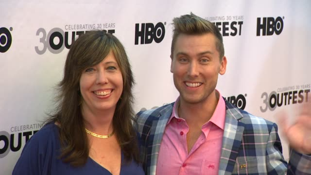 kirsten schaffer and lance bass at the 30th annual los angeles gay lesbian film festival presents the opening night gala of vito on 7/12/2012 in los... - lance bass stock videos and b-roll footage