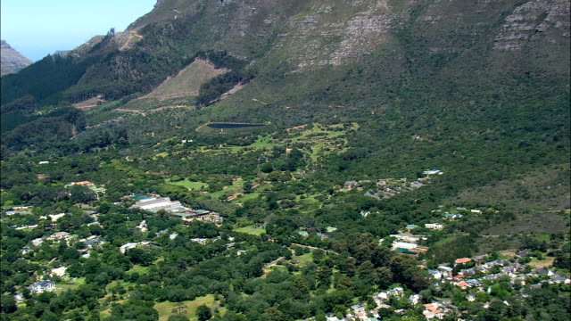 kirstenbosch national botanical garden  - aerial view - western cape,  south africa - botanical garden stock videos & royalty-free footage